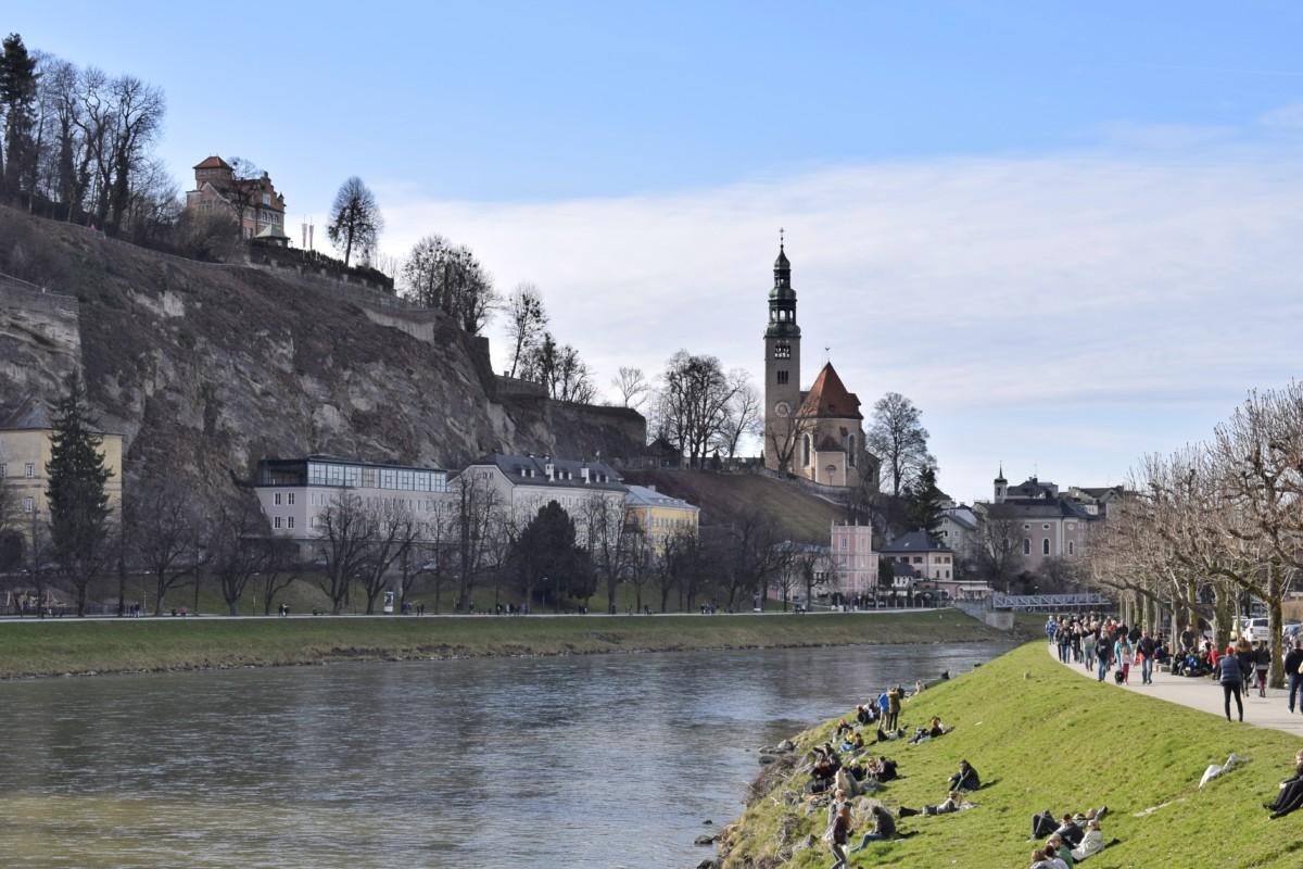 Salzburg river Austria