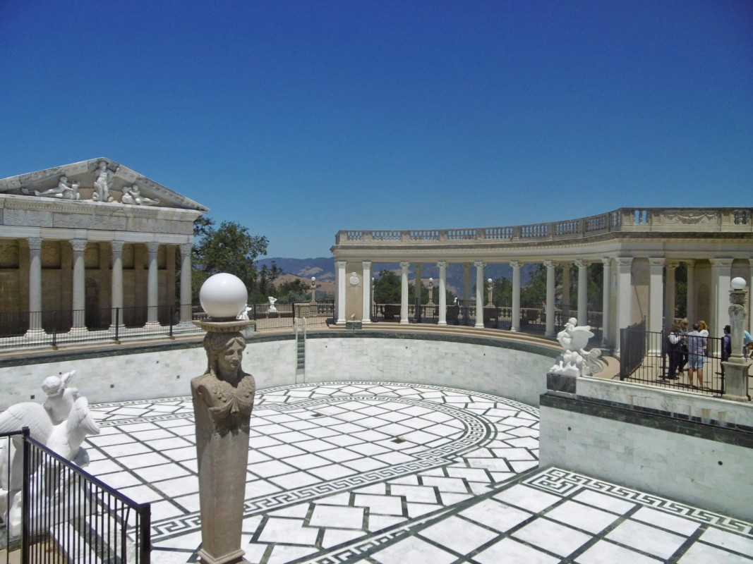 Roman villa in Hearst Castle Big Sur California