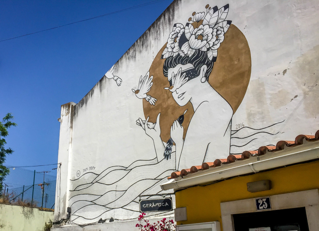 Lisbon street art in Alfama