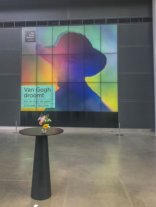Entrance to Van Gogh Museum in Amsterdam