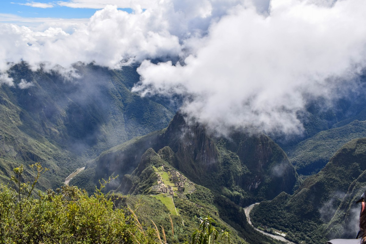 View of Machu Picchu from Mountain