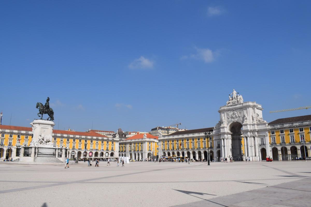Praco do Comercio main plaza in Lisbon Portugal