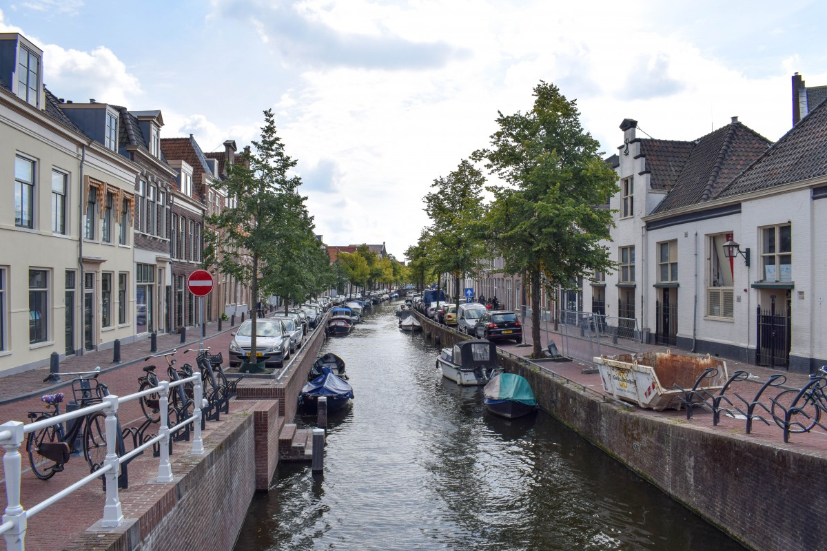 Haarlem canal views Netherlands