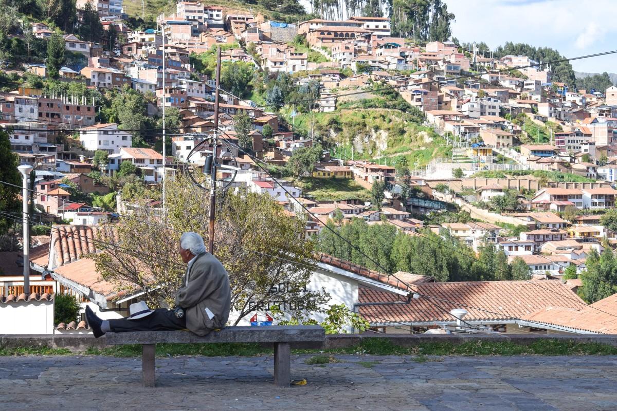 Cusco Peru view from San Cristobel Church