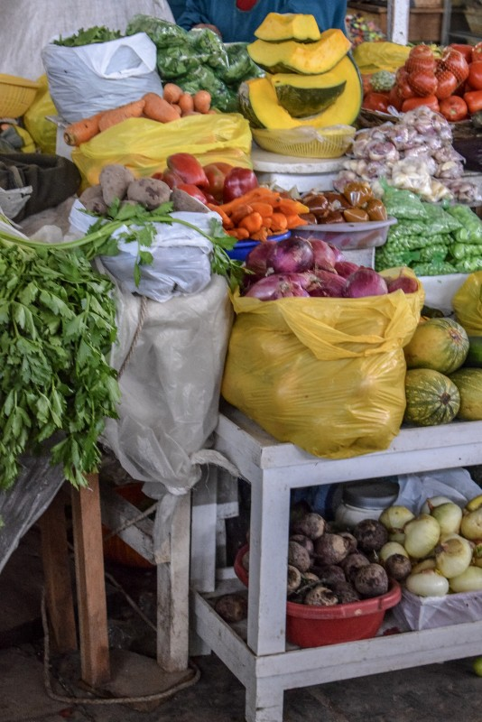 San Pedro Market vegetables
