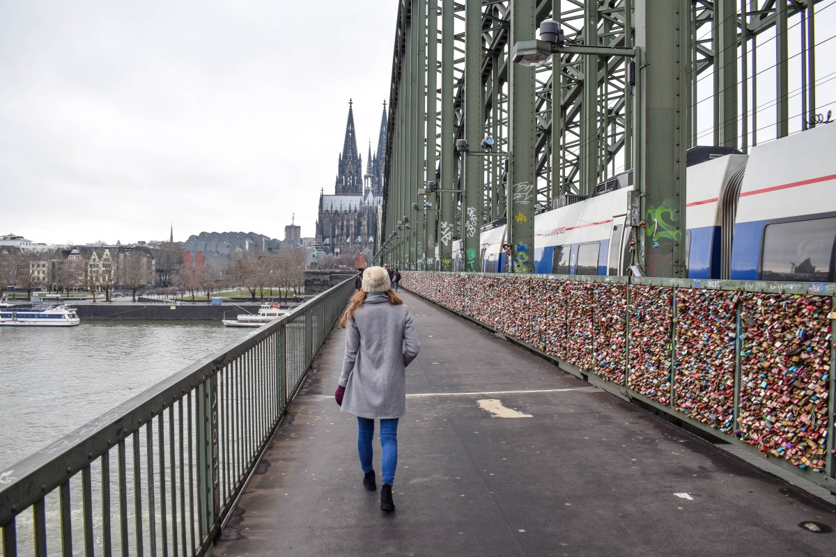 Hohenzollern Bridge Cologne padlocks