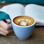 Coffee and book, image credit: Pexles