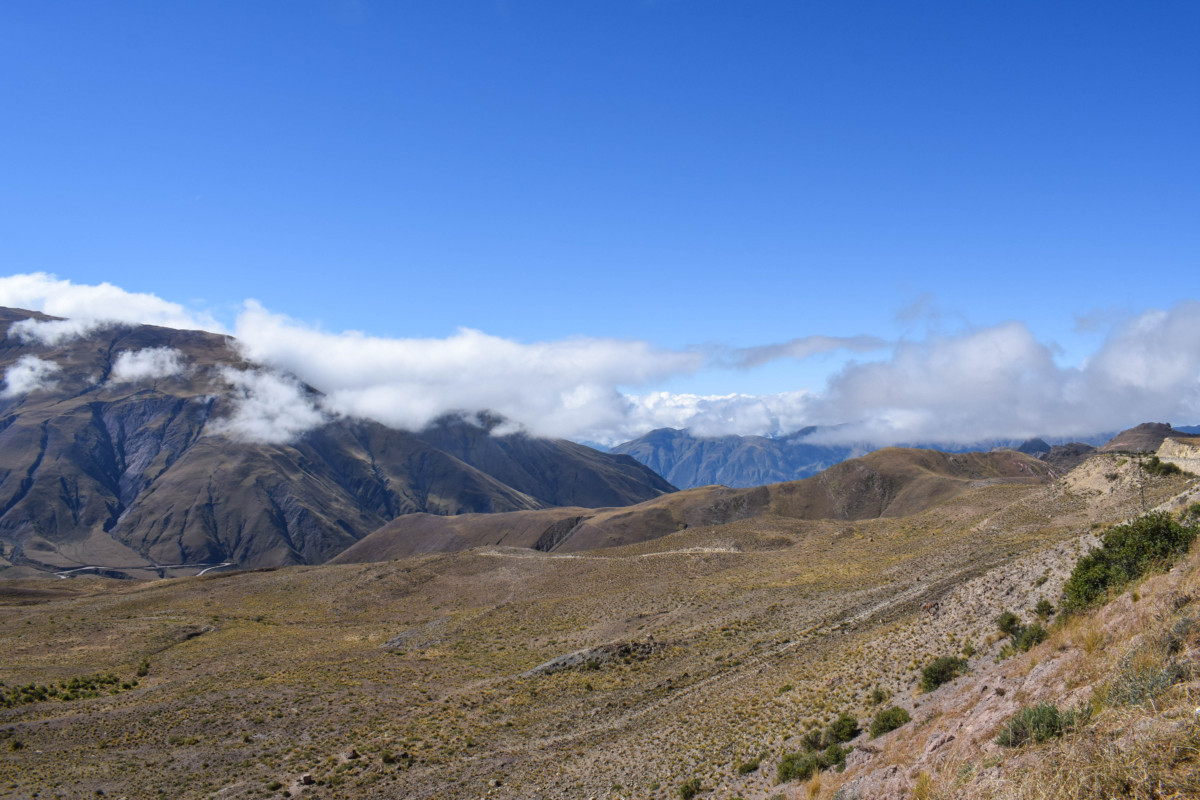 View from Cuesta del Obispo in Argentina