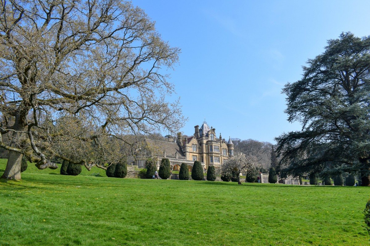 Tyntesfield house in the spring