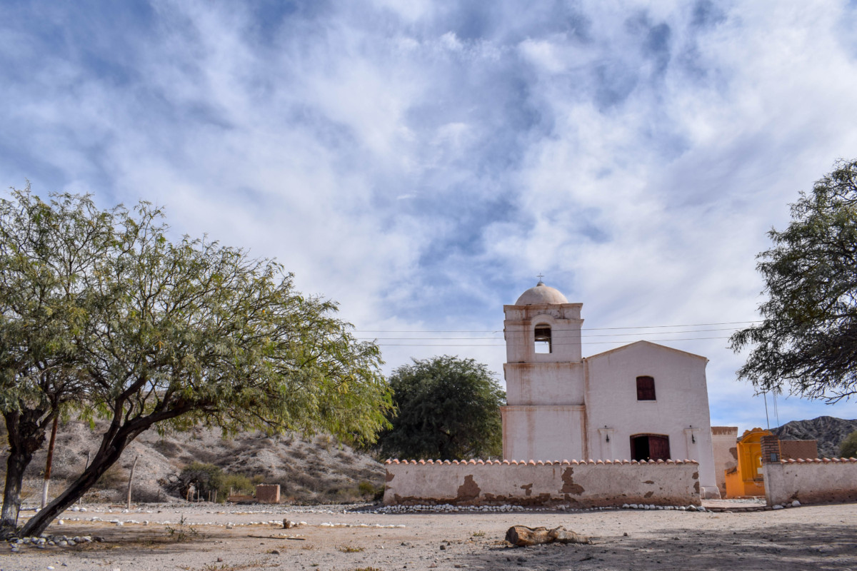 Old church Route 40 Cachi to Cafayate Argentina