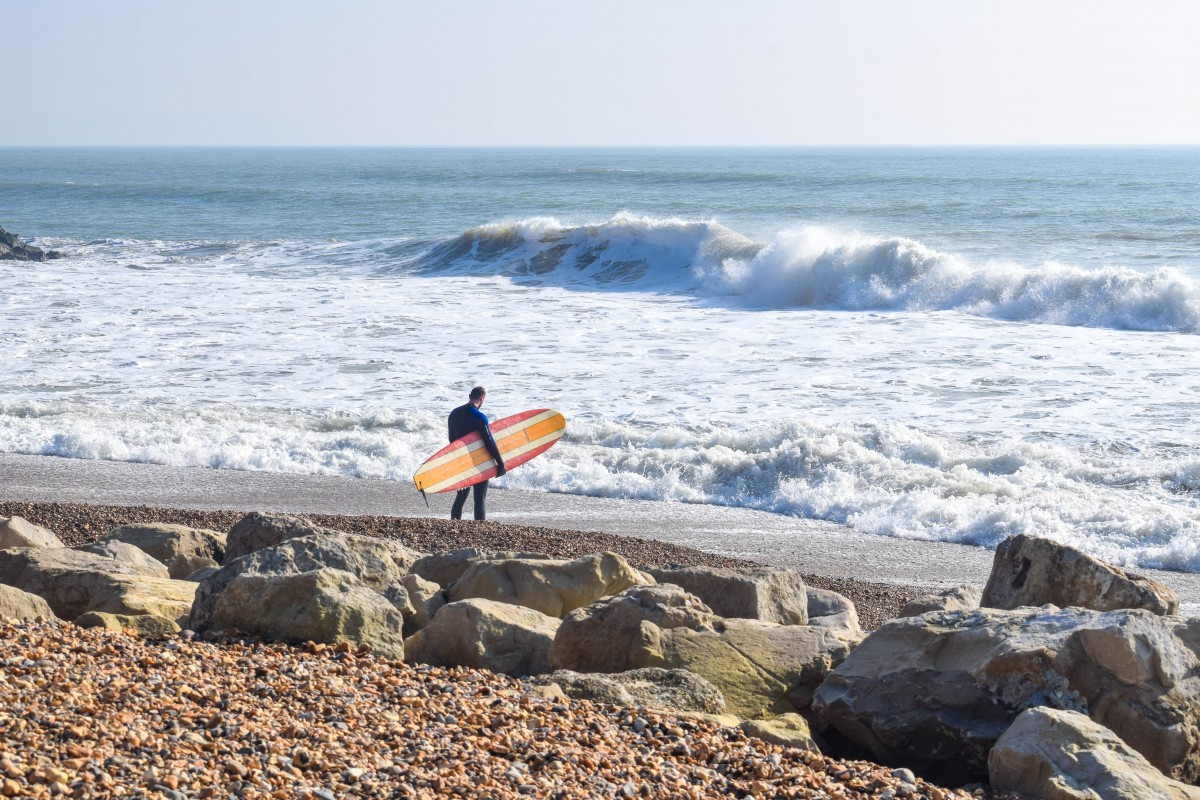 Surfing New Forest Highcliffe on Sea