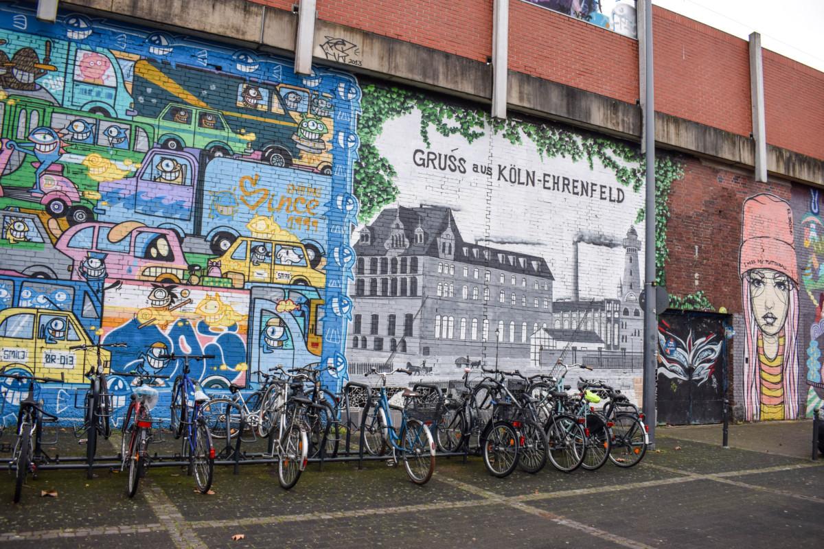 Street art on Ehrenfeld station cologne