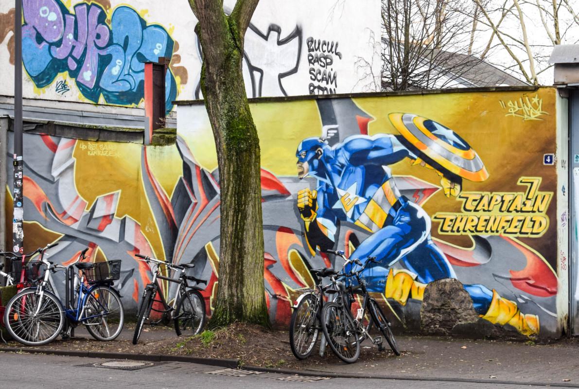 Captain Ehrenfeld street art Cologne