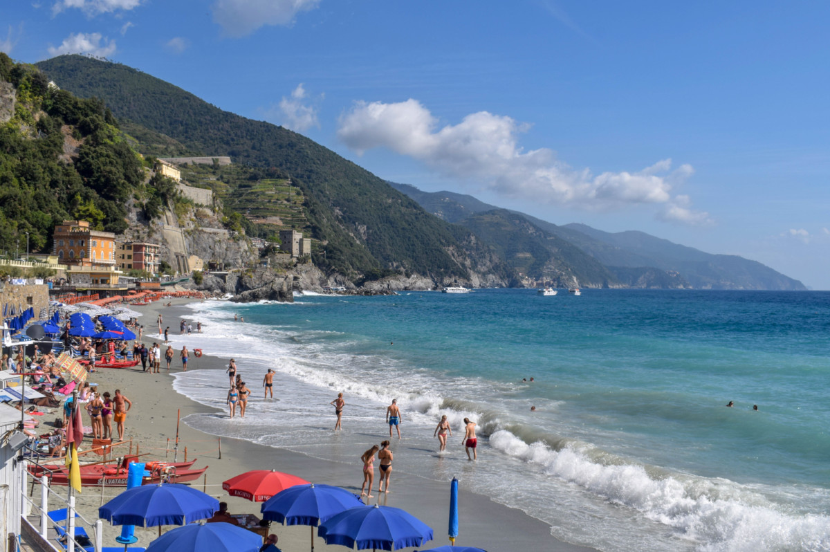 Monterosso Cinque Terre Italy beach