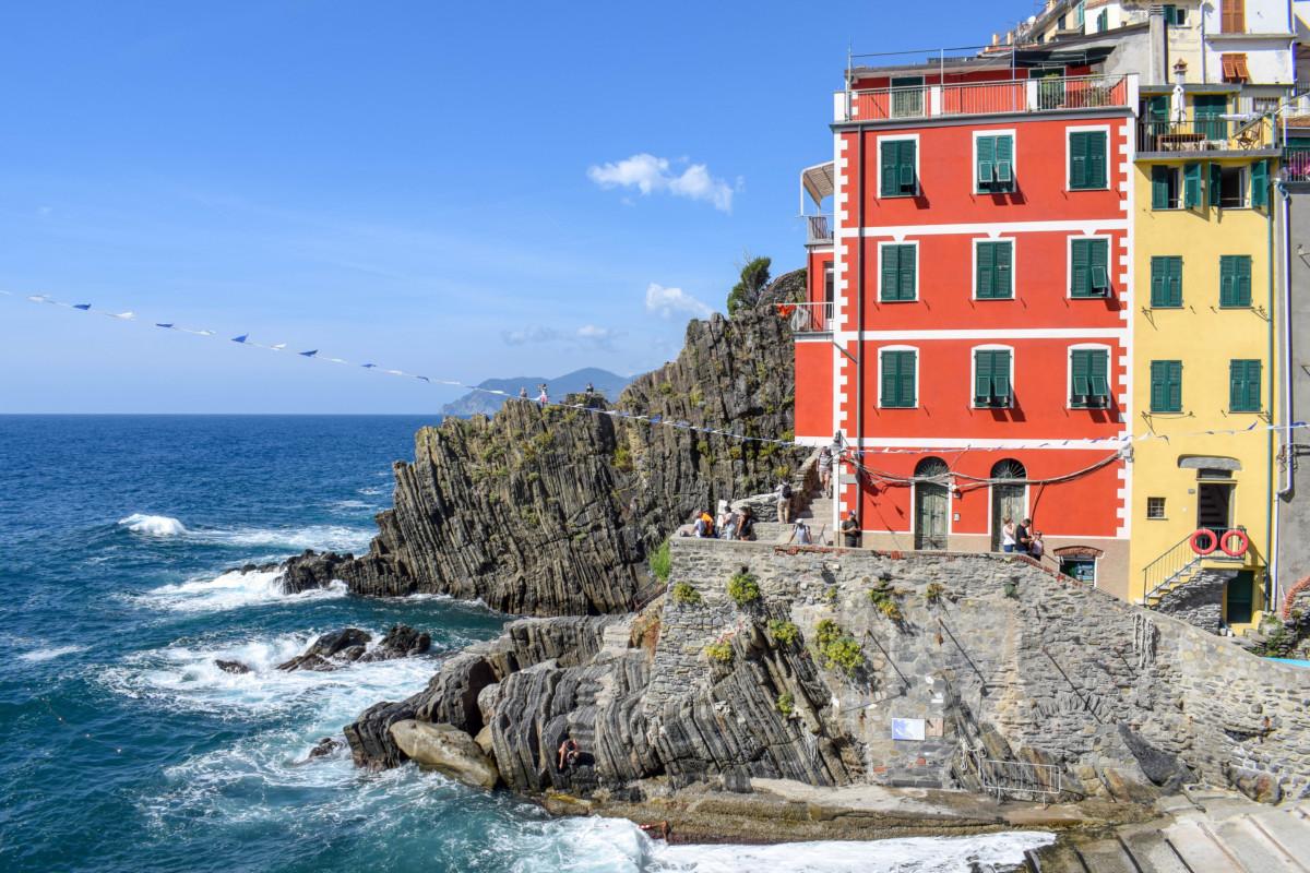 Riomaggiore harbour Cinque Terre Italy