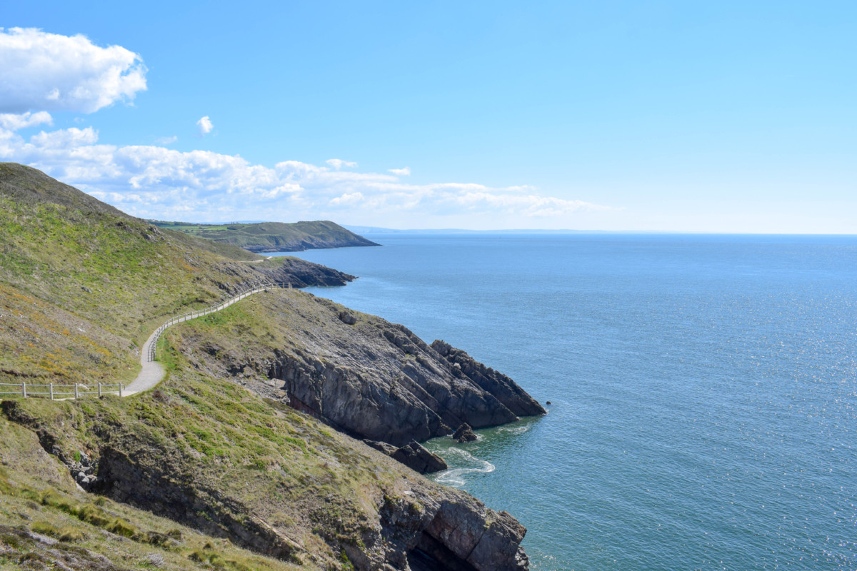 Caswell Bay to Langland Bay Gower hikes Wales
