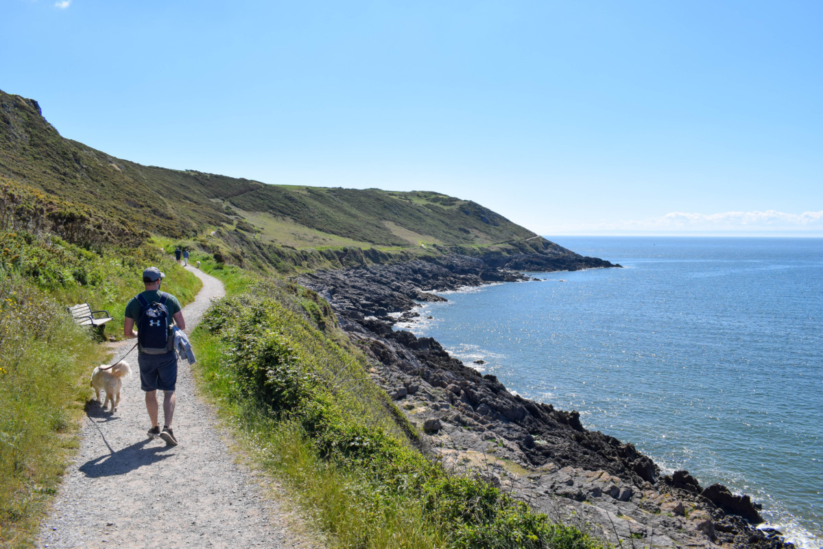 Caswell Bay to Langland Bay hike Gower Wales - UK travel