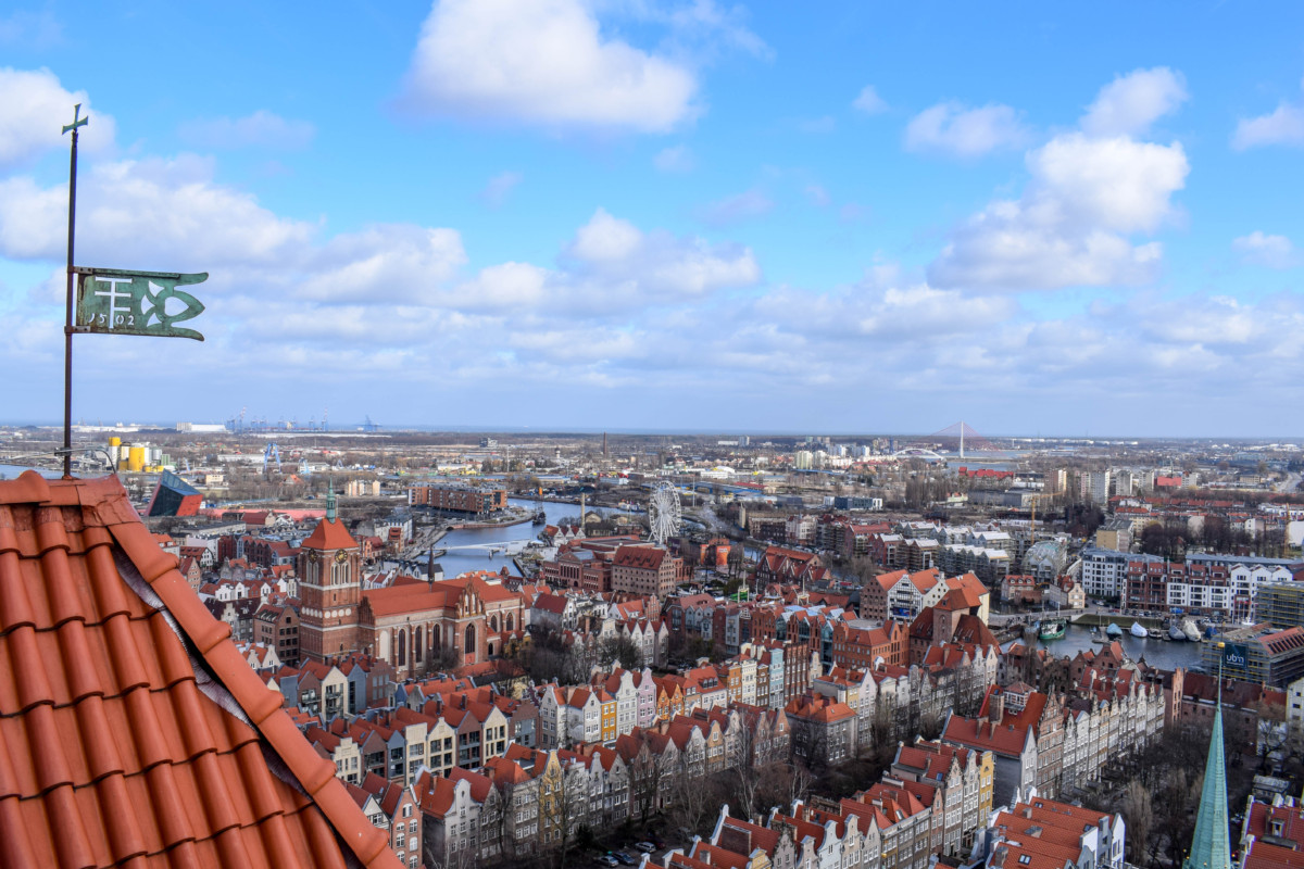 Views from St Mary's Basilica Gdansk Poland