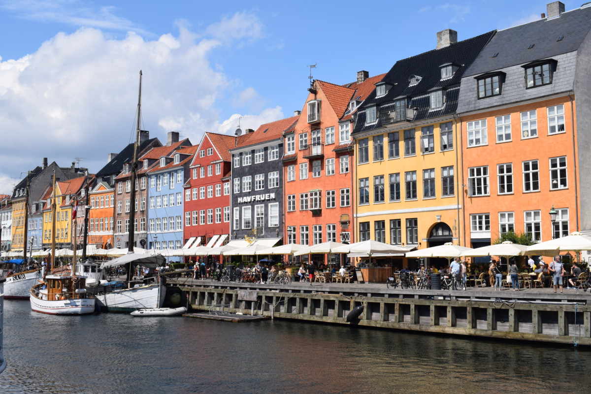 Nyhavn coloured houses Copenhagen on a budget