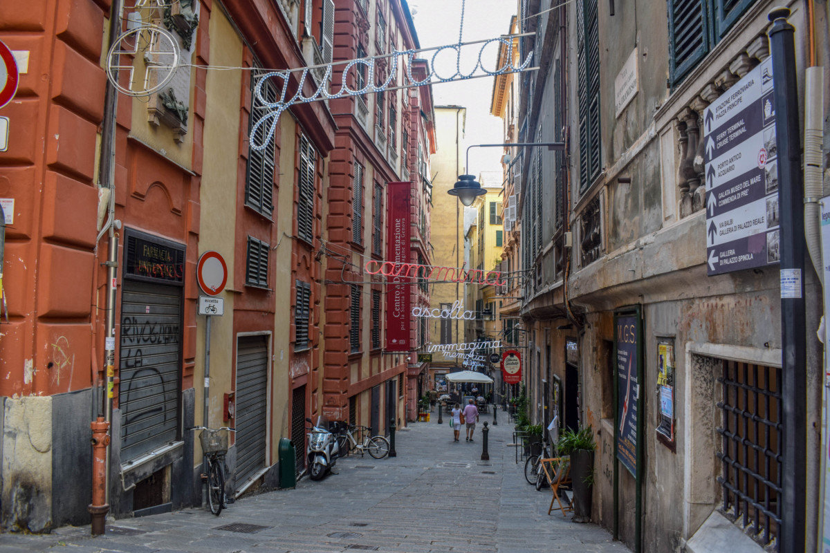 Genoa Italy Old City