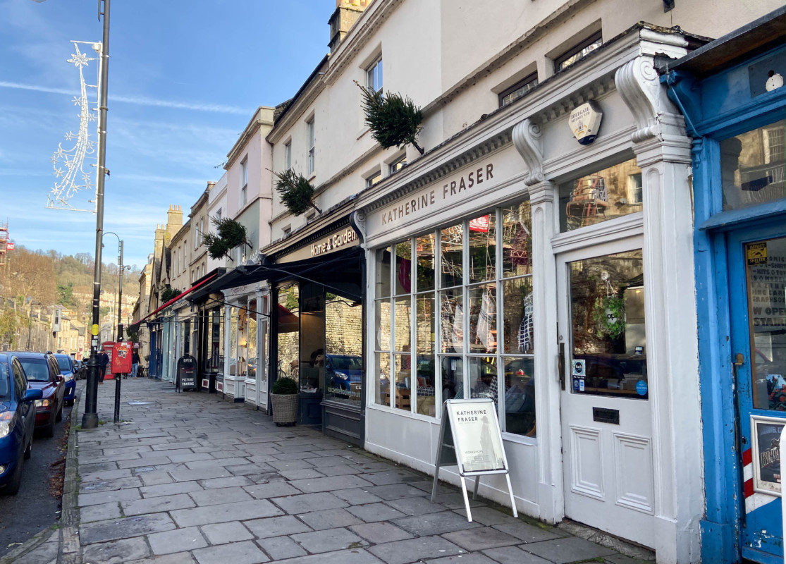 Walcot Street Bath Christmas shopping
