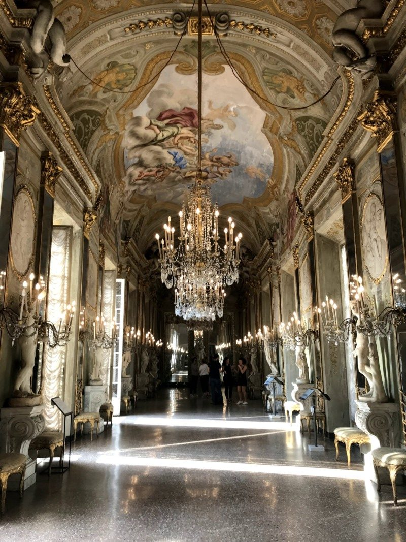Genoa Palazzo Reale Hall of Mirrors Italy