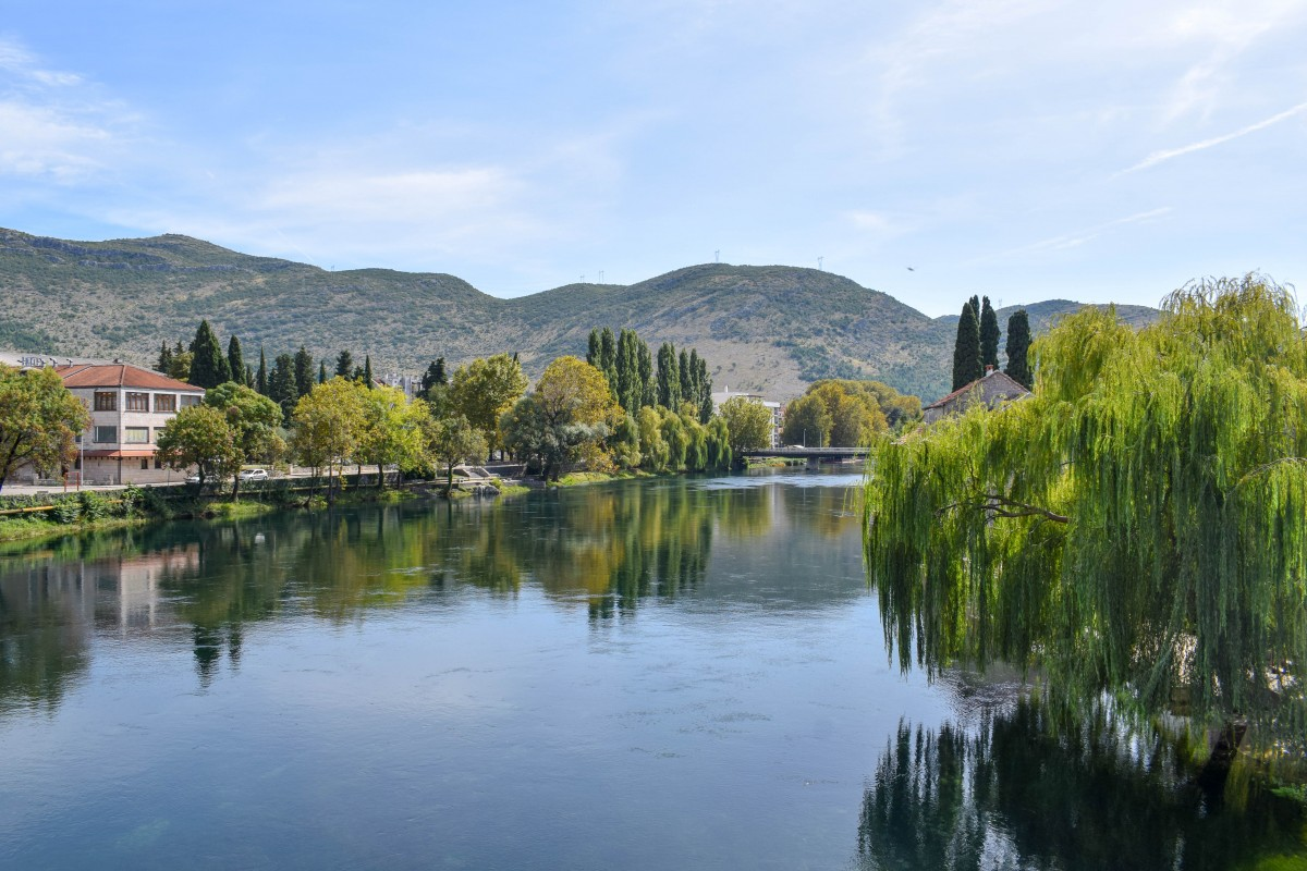 Trebinje riverside walk Bosnia and Herzogovina