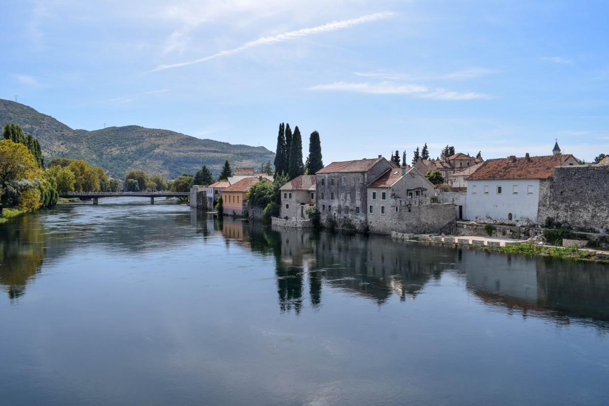 Trebinje river walk in Bosnia and Herzogovina