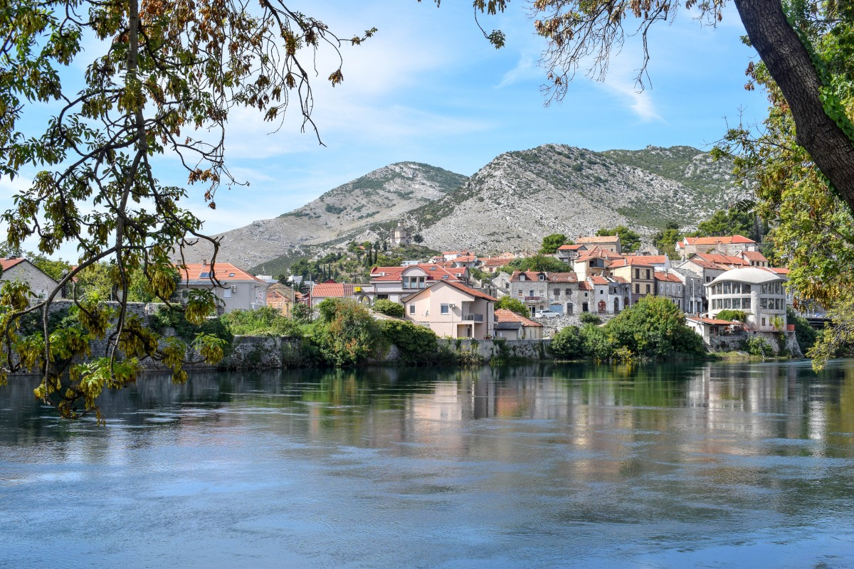 Trebišnjica river in Trebinje Bosnia and Herzogovina