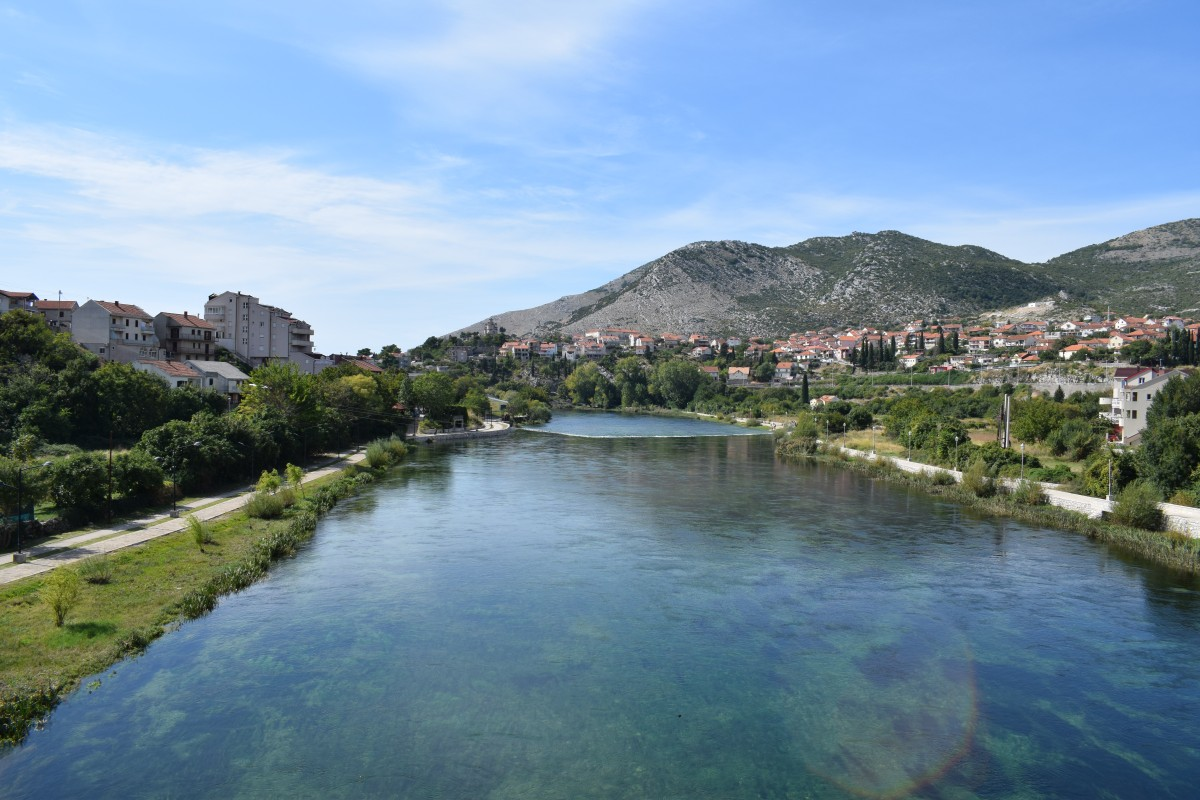 View from Arslanagica Bridge Trebinje Bosnia and Herzogovina