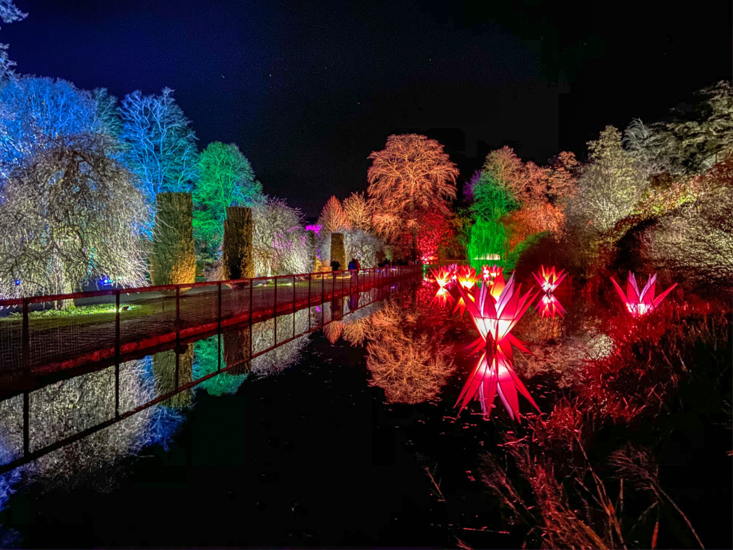 Sudeley Castle Spectacle of Light Cotswolds at Christmas reflections