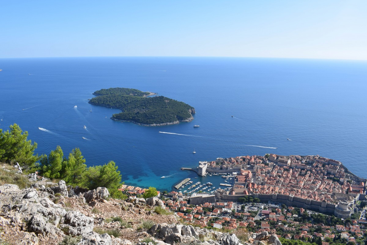 Views from Mount Srd Dubrovnik in Croatia