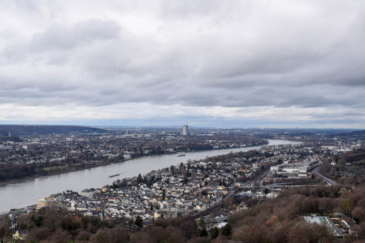 View of the Rhine Valley from Schloss Drachenberg Germany - Day Trip from Cologne