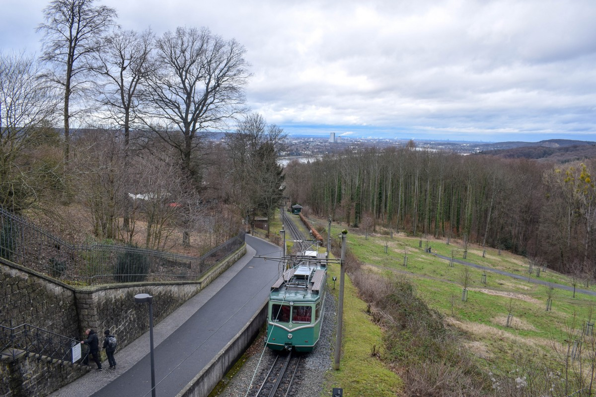 Drachenfels funicular Schloss Drachenberg Germany - day trip from Cologne