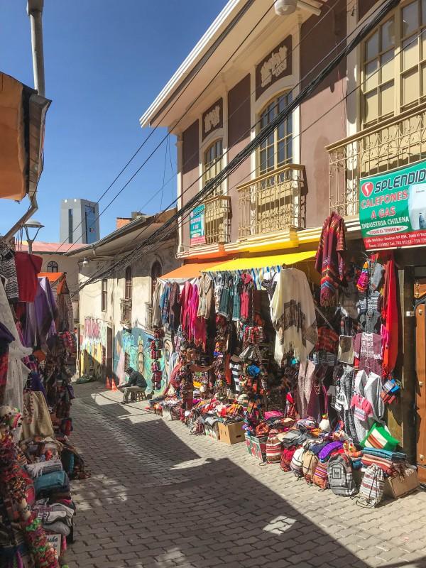 Witches Market La Paz Bolivia red cap walking tour