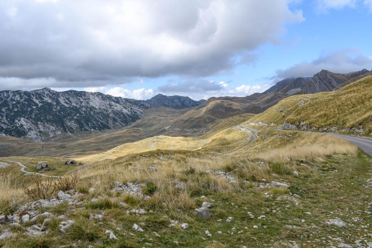 P14 ring road Durmitor National Park Montenegro