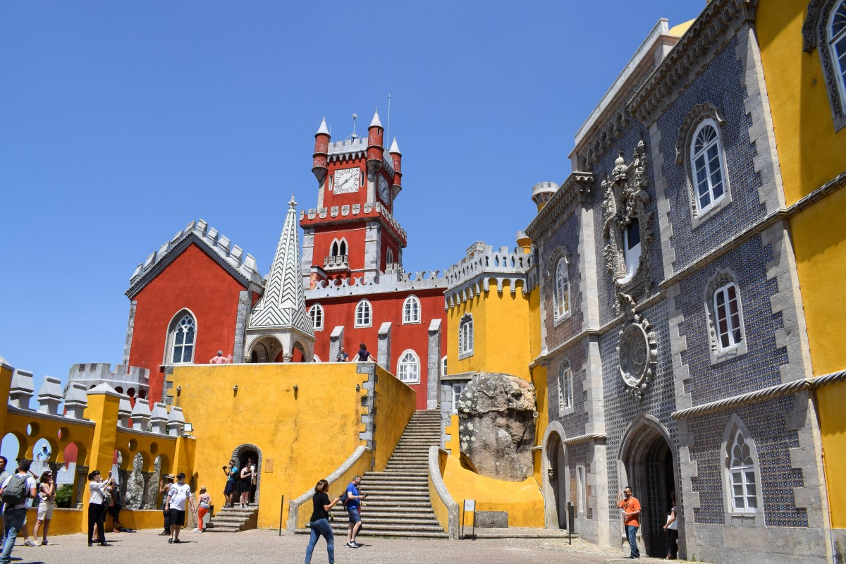 Palácio da Pena Palace Sintra Day trips from Lisbon