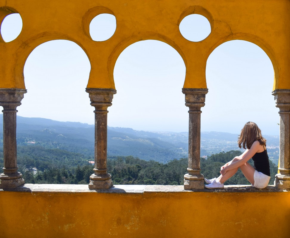 Pena Palace views in Sintra Lisbon Portugal