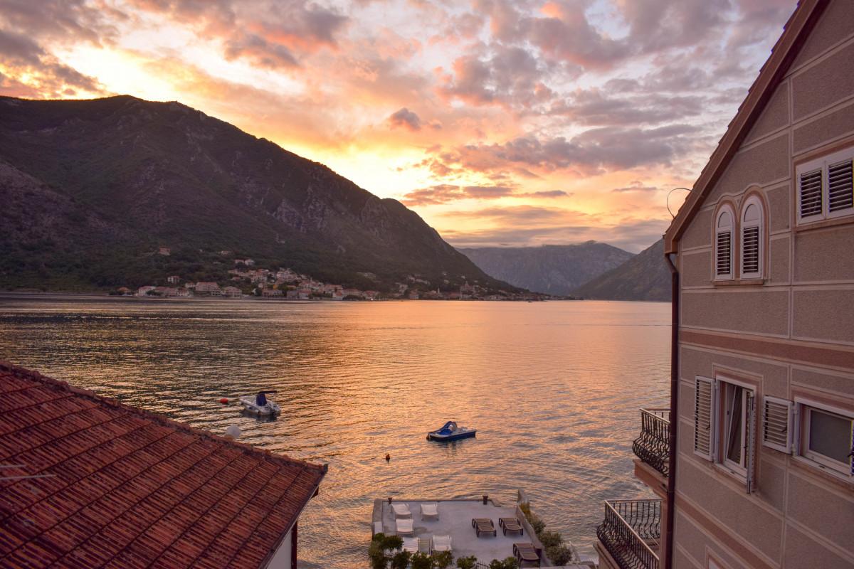 Dobrota sunset Kotor Bay