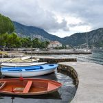 Boats in Dobrota Kotor Bay Where to stay montenegro