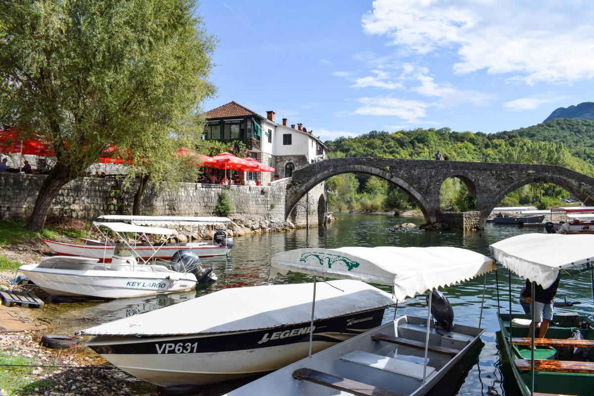 Lake Skadar bridge Rijeka Crnojevica