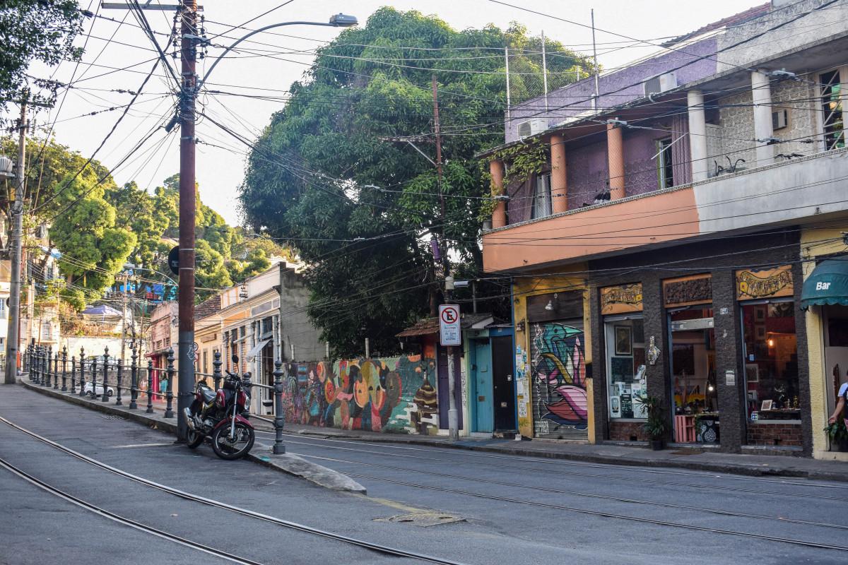 Street in Santa Teresa Rio de Janeiro Brazil