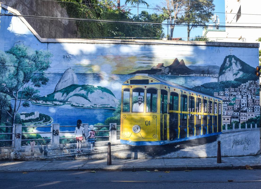 Street art in Santa Teresa Rio de Janeiro Brazil