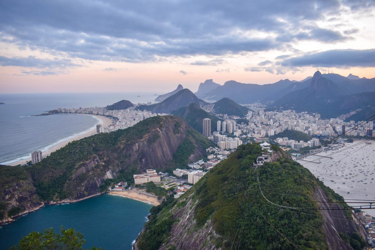 View from Sugarloaf Mountain Rio de Janeiro Brazil