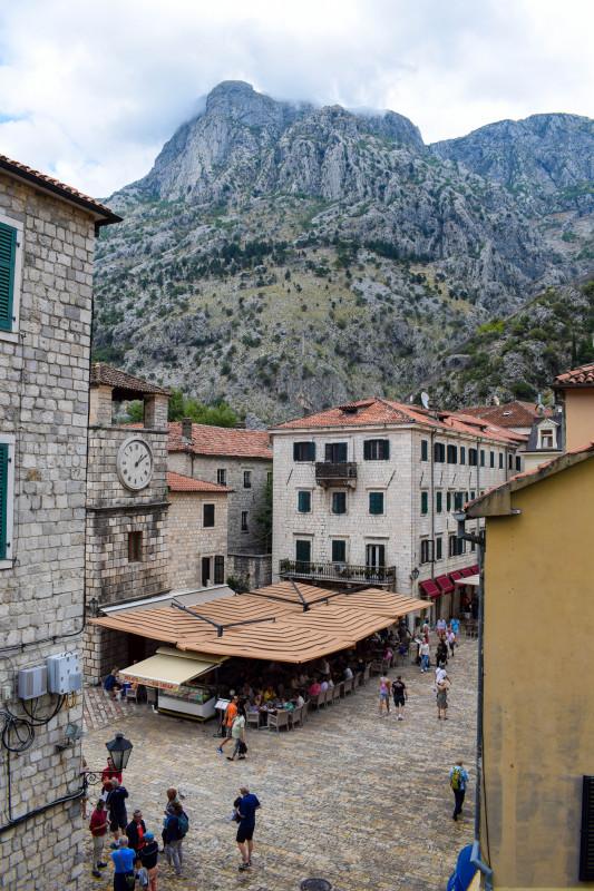 Kotor old town city walls Montenegro