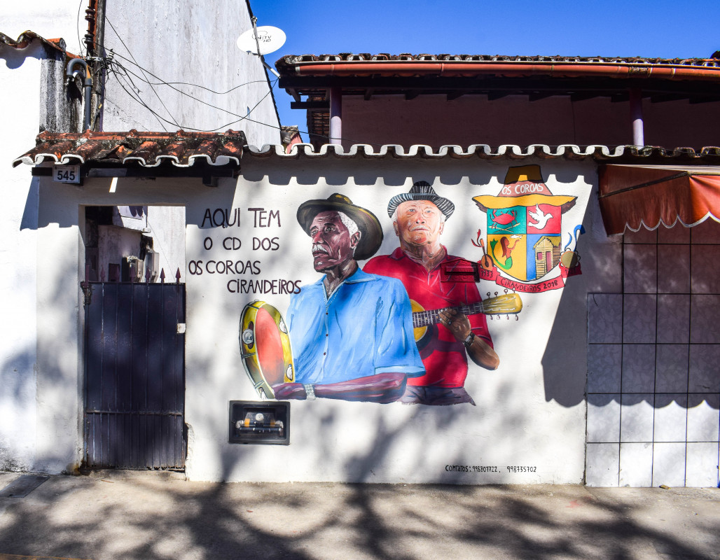 Street art Paraty Brazil